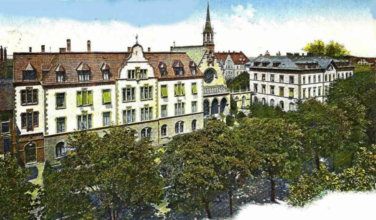 Im Jahre 1853 wurde an der damaligen Z...nd das Pflegeheim Carolushaus (links).  | Foto: Archiv Hans Sigmund