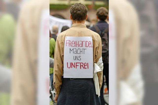 Proteste gegen mehr Freihandel
