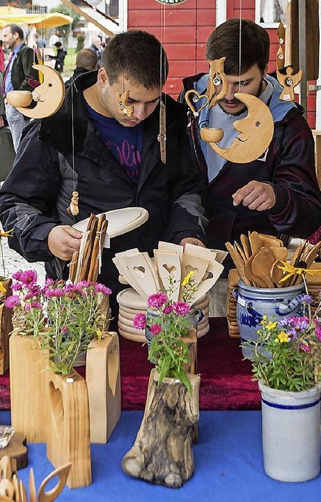 Viele Produkte aus der Region gab es b...aturparkmarkt in Häusern zu entdecken.    Foto: Barbara Weber, Barbara Weber