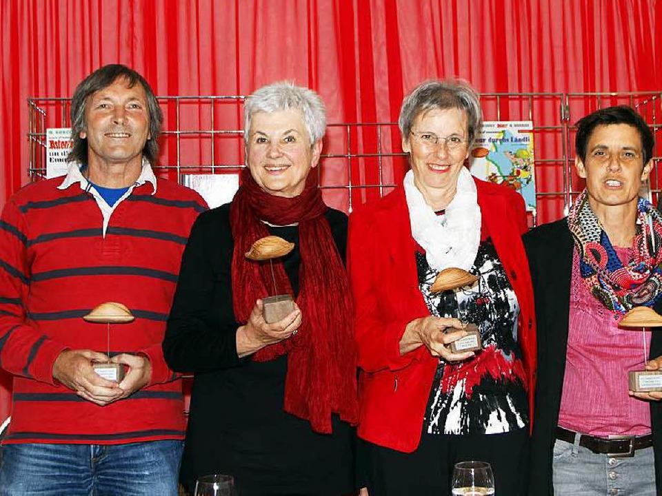 Die Murre-Preisträger (von links) Wend...ele Loy und  Nicole Keilbach-Schmittel  | Foto: Heidi Foessel