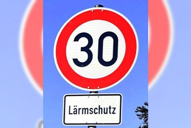 Für Tempo 30 in Ortsdurchfahrten