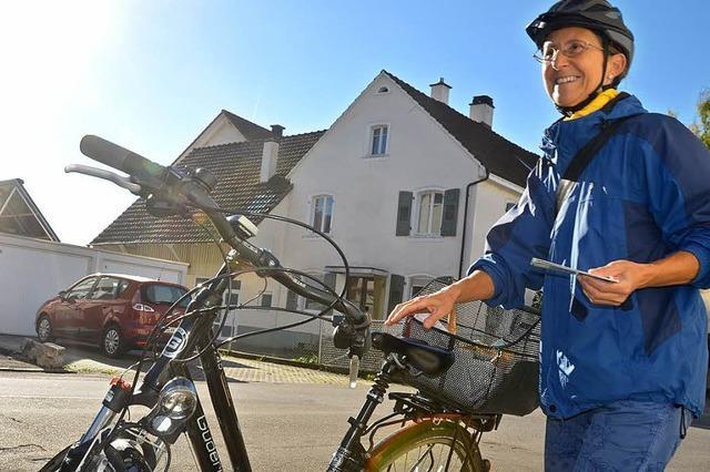 Wahlkampf mit Fahrrad und dem bekannten Namen