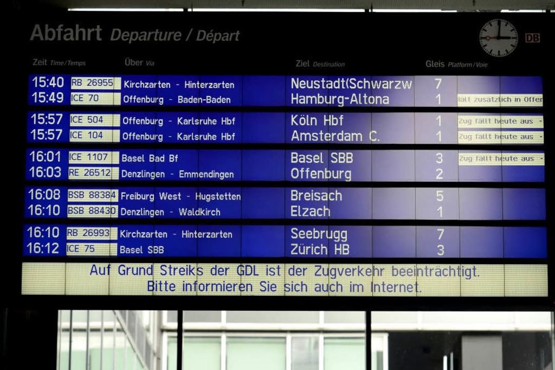 Nicht nur der Fernverkehr ist betroffen...  | Foto: Ingo Schneider