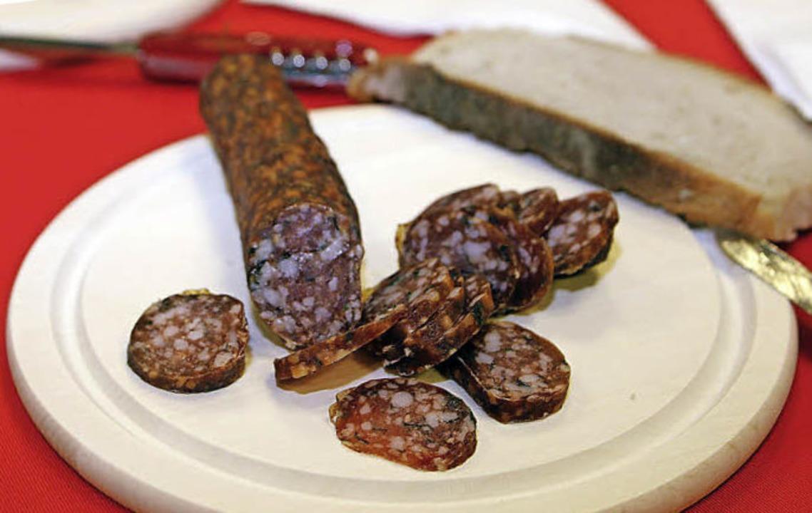Wohl bekomm's: die Salami  | Foto: Heidi FÖssel