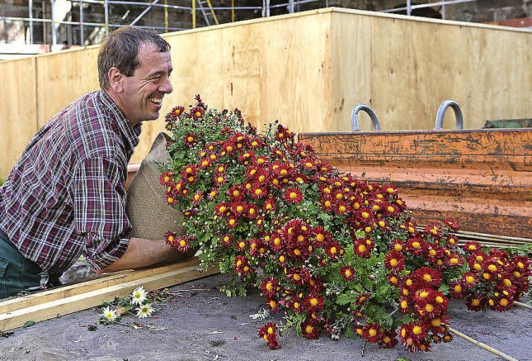 Letzte Vorbereitungen fürs Großereigni...Bau- und Gartenbetriebe bei der Arbeit  | Foto: Christoph Breithaupt, Christoph Breithaupt