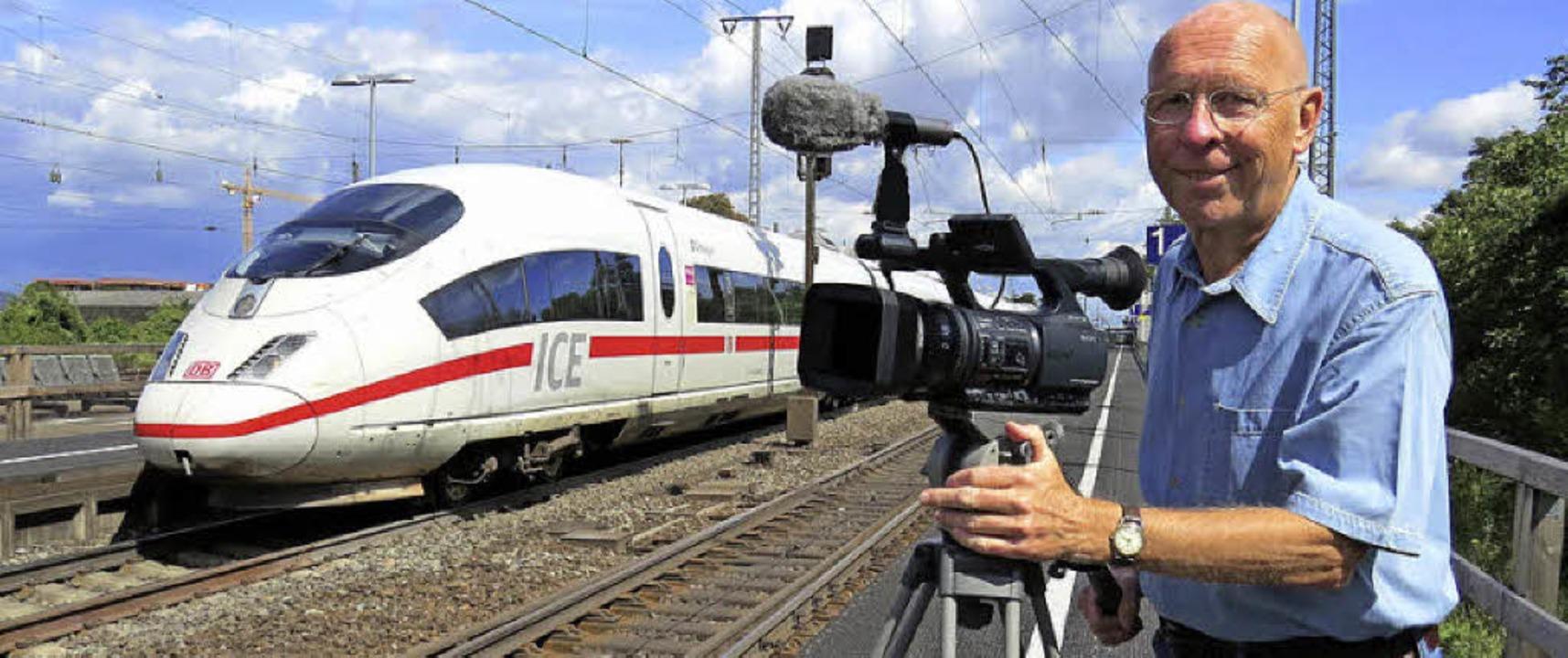 Heinz Göttlich beim Filmen   | Foto: privat