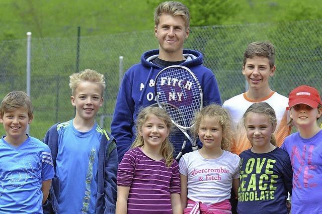 Der Nachwuchs bereitet den Tennisspielern viel Freude