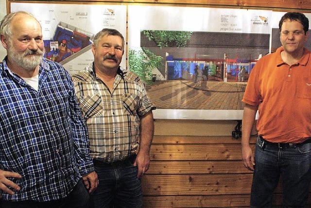 Initiative Dorfladen Öflingen und Architekt Alexander Urich stellen ihre Pläne vor
