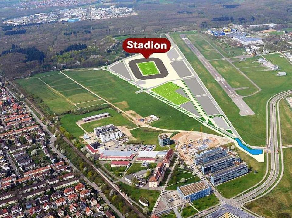 Im Jahr 2019 will der SC erstmals im n... wenn die Bürger dessen Bau zustimmen.  | Foto: Seeger/dpa