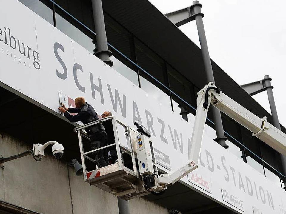 Im Schwarzwald-Stadion tagen – d...en und -räte der Fraktion FL/FR nicht.  | Foto: Patrick Seeger