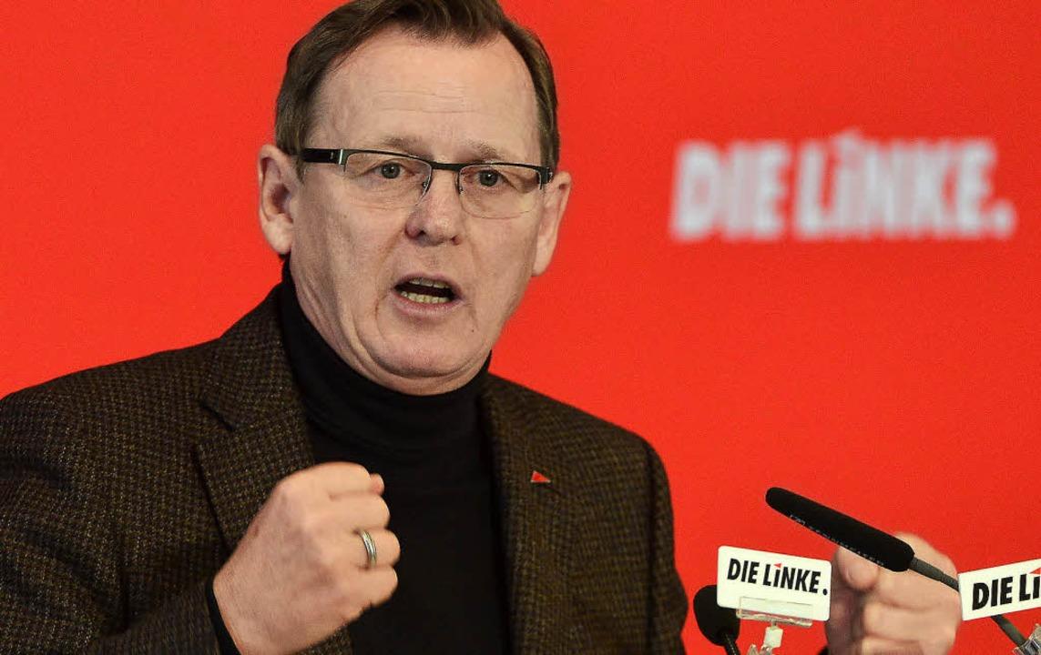 Bald Thüringens Ministerpräsident? Bodo Ramelow von den Linken     Foto: DPA