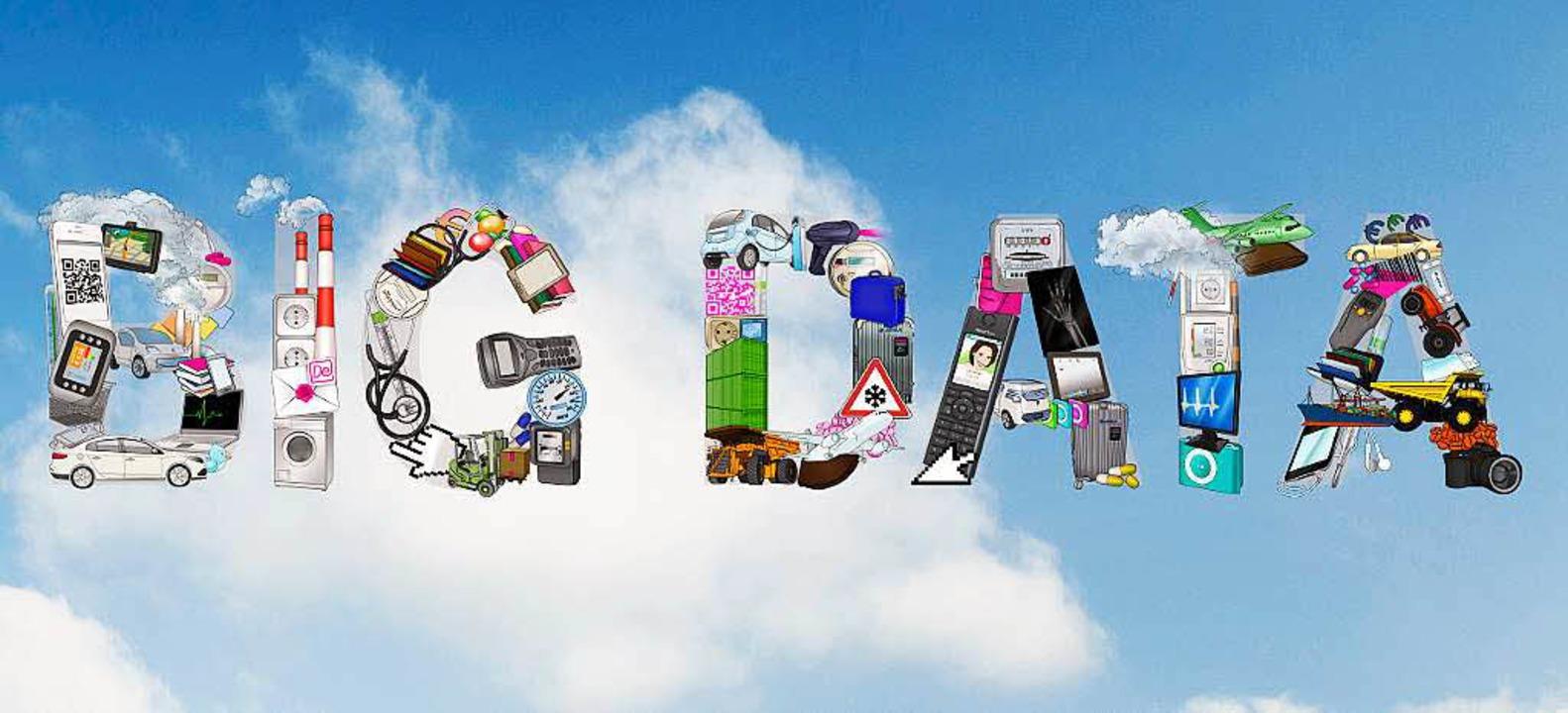 In aller Munde: Big Data – der D...ten, Handys und im Internet ansammelt.    Foto: T-Systems (obs)