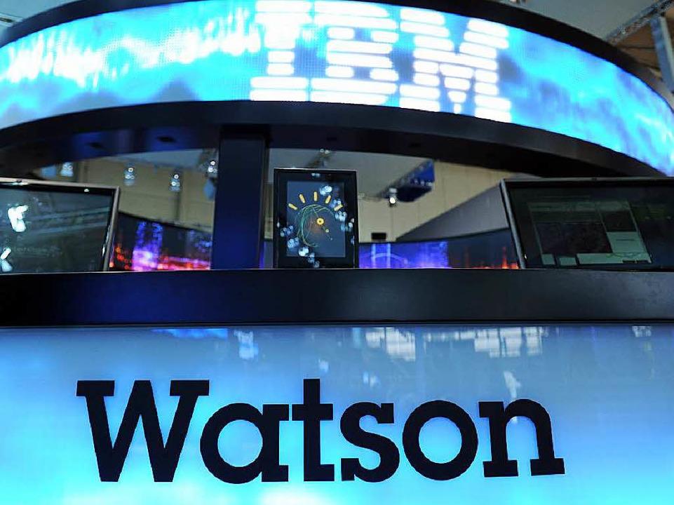 Stellt Diagnose, plant Therapien – der IBM-Supercomputer Watson     Foto: dpa