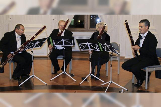 Vier Fagotte begeistern die Zuhörer