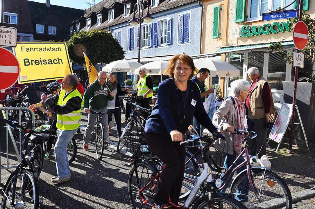 75 Breisacher Bürger beteiligten sich ...erten Verbesserungen beim Radwegenetz.  | Foto: Kai Kricheldorff