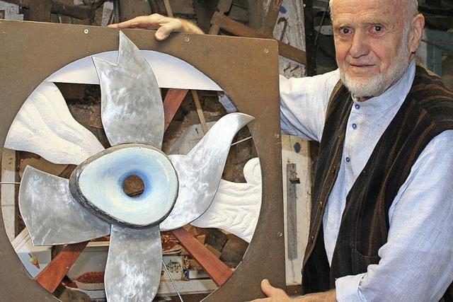 Das Staunen hat Max Sauk auch mit 85 Jahren nicht verlernt