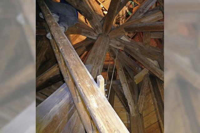 Ganze Arbeit im Glockenturm