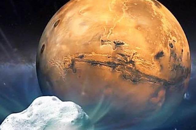 Komet Siding Spring rast knapp am Mars vorbei