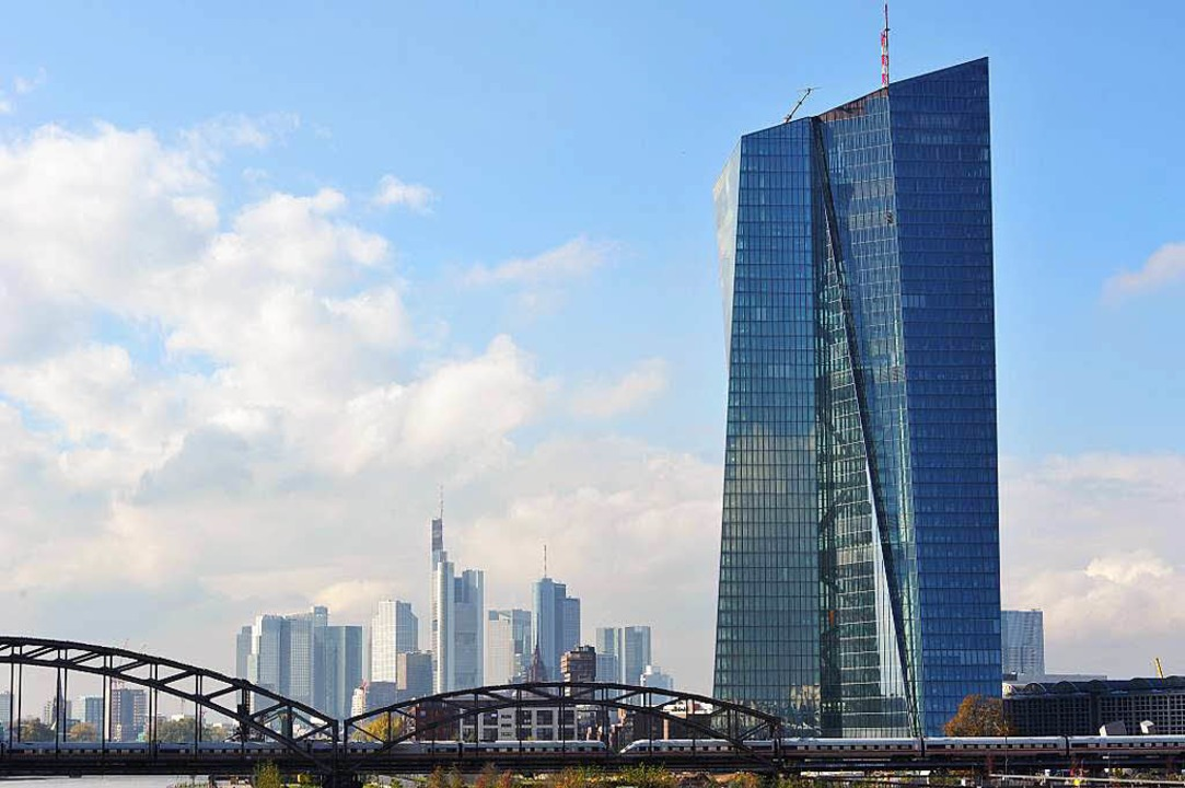 Der neue Büroturm der Europäischen Zentralbank   | Foto: Arne Bensiek