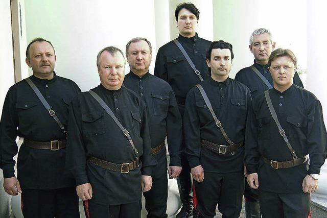 Die Maxim Kowalew Don Kosaken singen in Höchenschwand