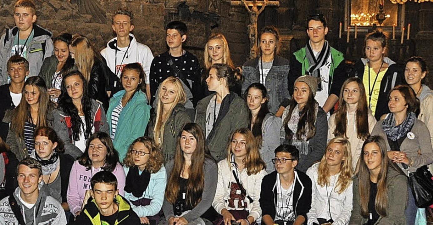 Breisacher Realschüler und ihre polnis...as Salzbergwerk in Wieliczka besucht.   | Foto: Privat