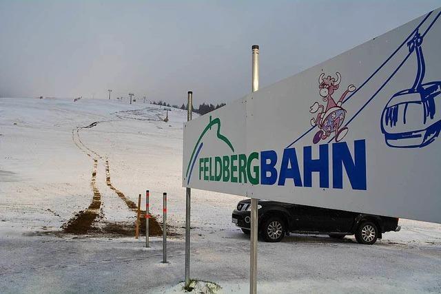 Schnee auf dem Feldberg – Wetterdienst warnt vor glatten Straßen