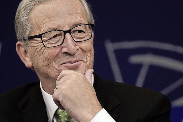 Juncker verteilt Küsschen