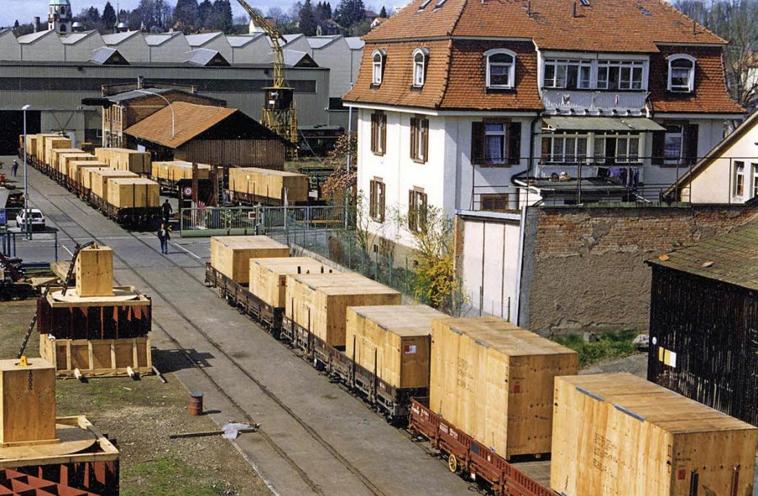 Vergangene Zeiten: Schienentransport in der Innenstadt   | Foto: BZ