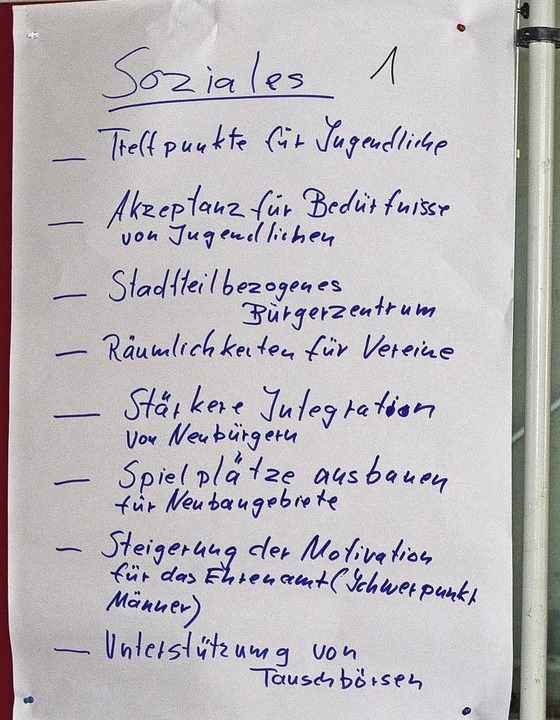 Vorschläge zum Themengebiet Soziales   | Foto: Fotos: Gabriele Zahn