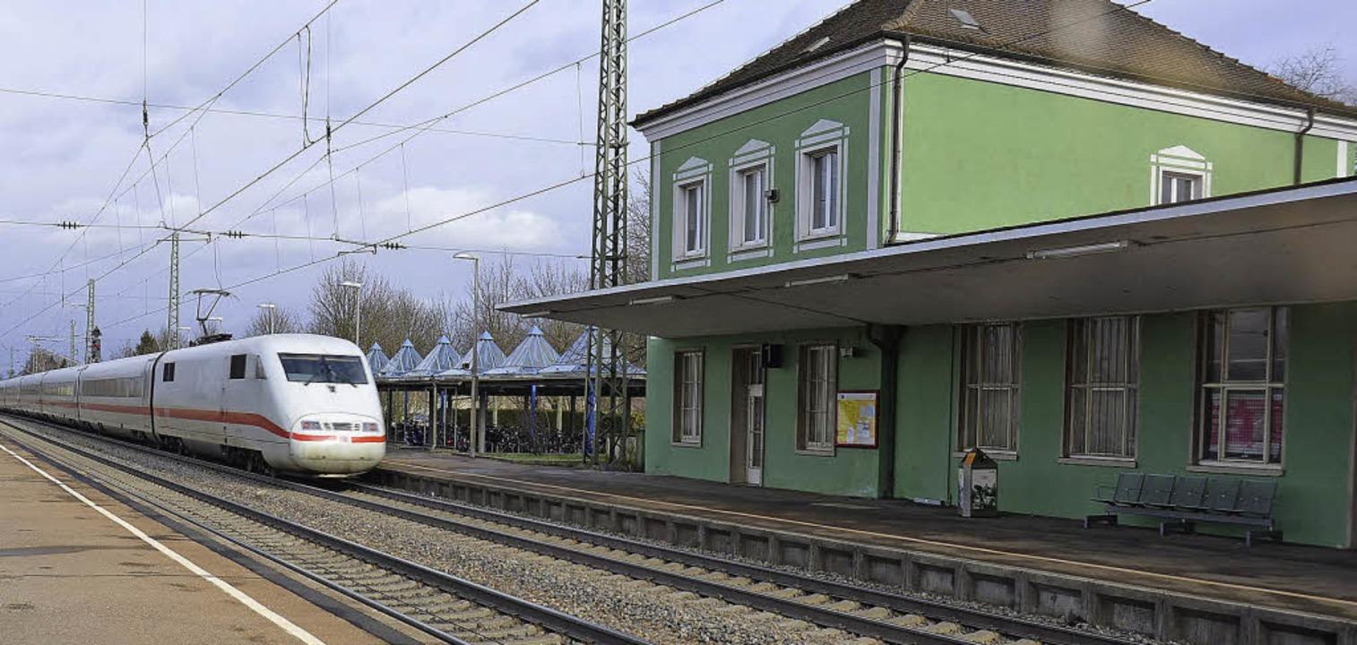 Der Müllheimer Bahnhof kann problemlos...n ihre Alternativplanung durchsetzen.   | Foto: Andrea Drescher
