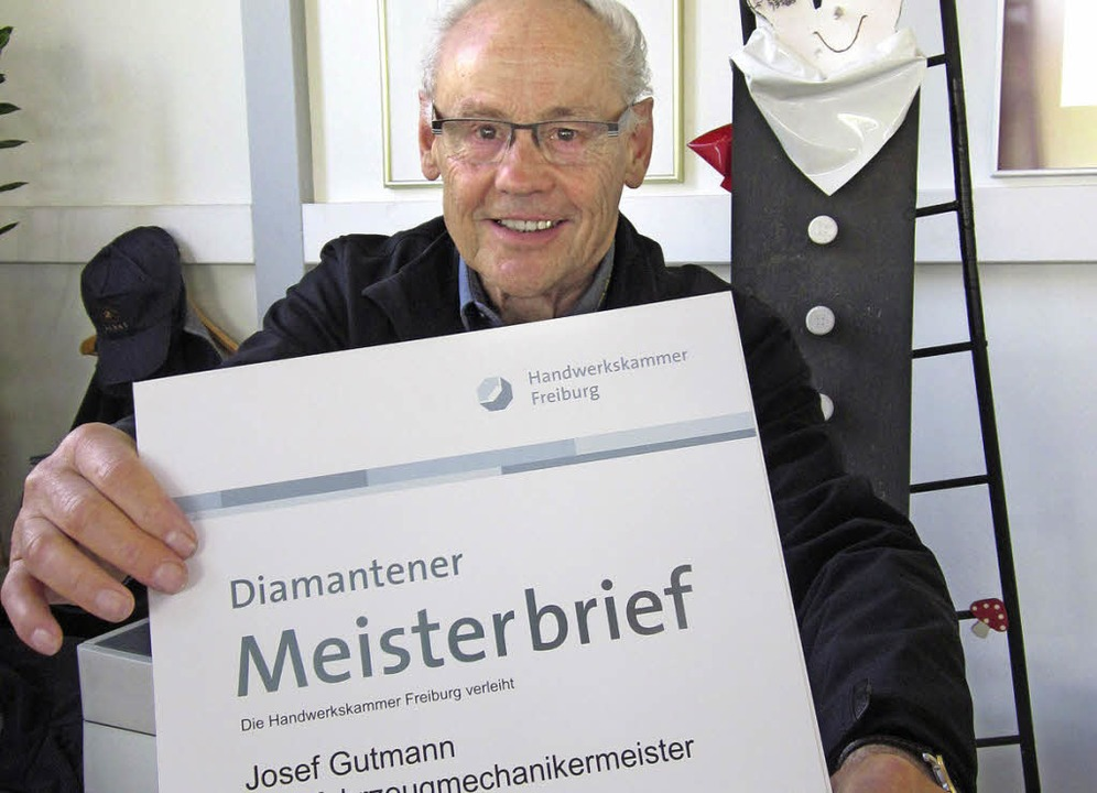 Ein guter Mann, dieser Josef Gutmann. ... sondern vor allem sein Familienname.     Foto: Susanne Müller
