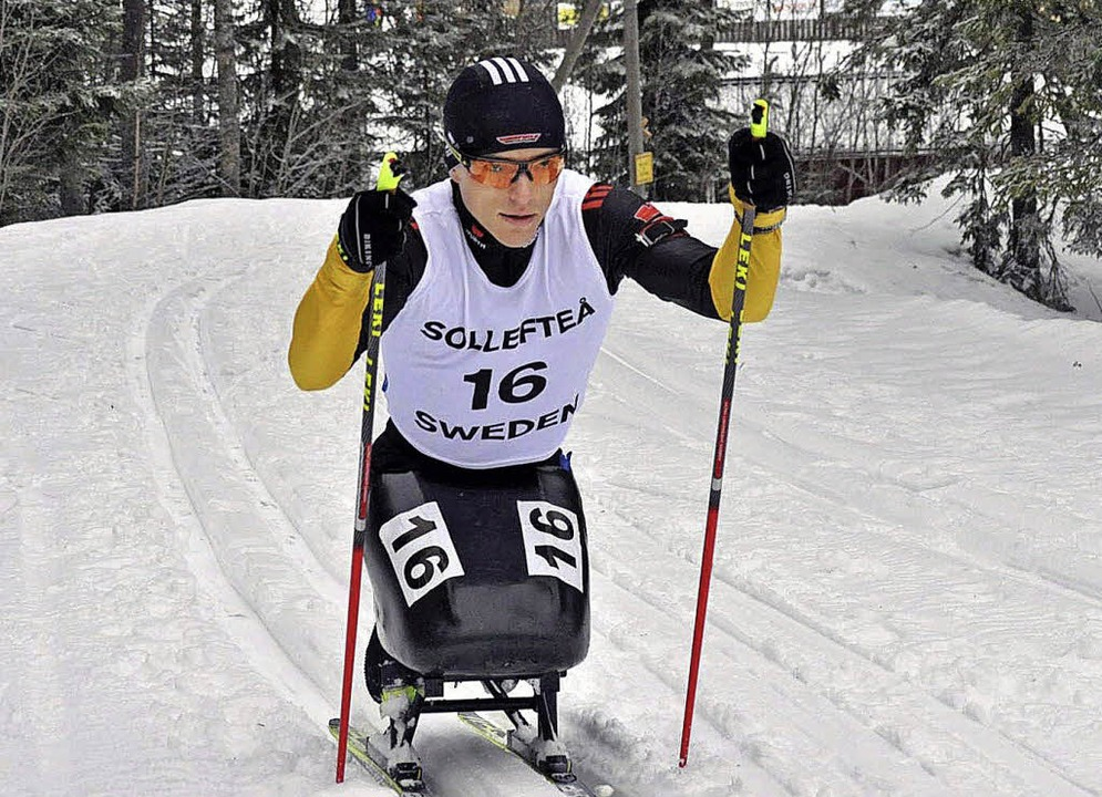 Martin Fleig ist mehrfacher deutscher ... im Biathlon und Langlauf im Sitzski.     Foto: PR