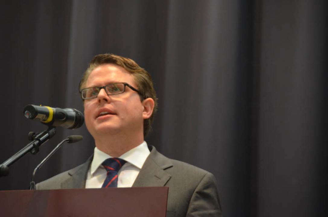 Tobias Benz ist neuer Bürgermeister von Grenzach-Wyhlen.  | Foto: Ralf H. Dorweiler