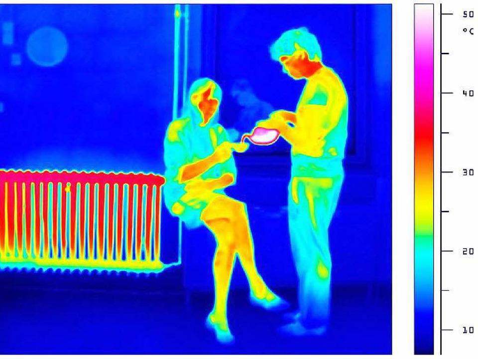Frieren ist keine Lösung – Blick durch eine Wärmebildkamera   | Foto: Ingo Bartussek (Fotolia.com)