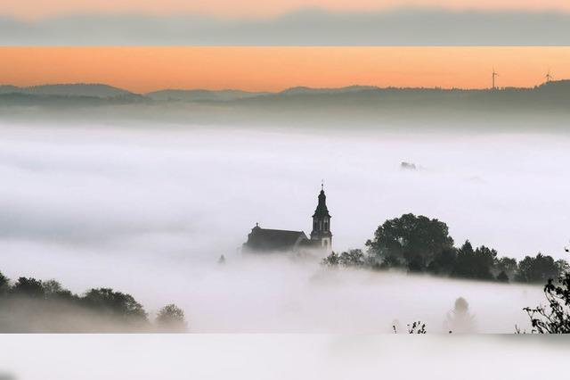 Ettenheim versinkt im Nebelmeer