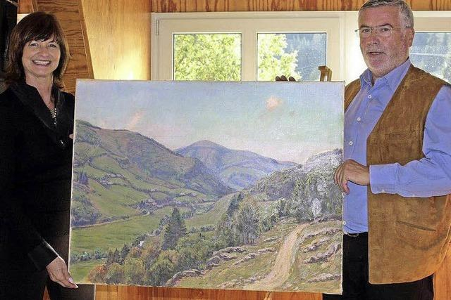 Als Dankeschön erhielt das Dorf ein Wolff-Gemälde