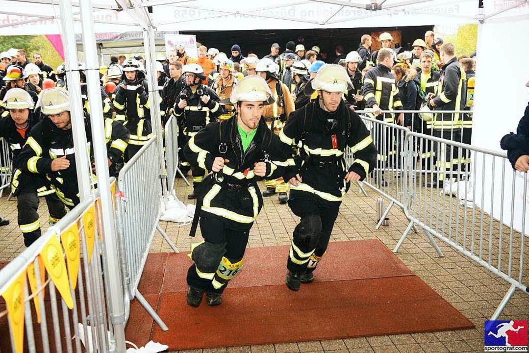 Die Missfelder-Zwillinge beim Start  | Foto: sportograf.com