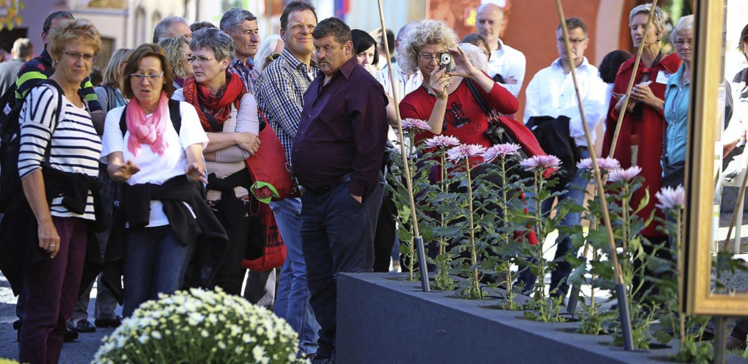 Mehrere Zehntausend Besucher kamen in ...en Hälfte der Chrysanthema nach Lahr.   | Foto: Christoph Breithaupt