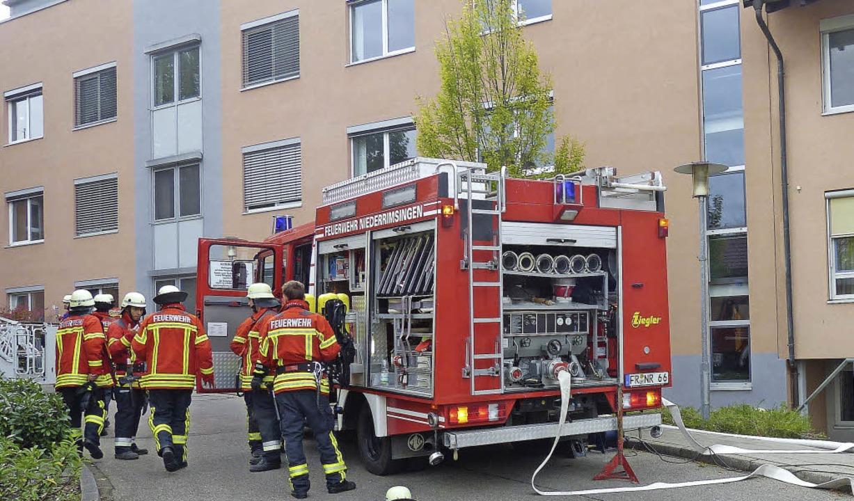 Die Feuerwehr  Breisach absolvierte ih... diesmal an der  Helios-Rosmann-Kinik.  | Foto: Privat