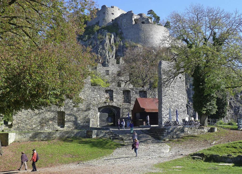 Majestätisch: Die Festungsruine thront...wiel und beansprucht fast zehn Hektar.  | Foto: Rolf Müller