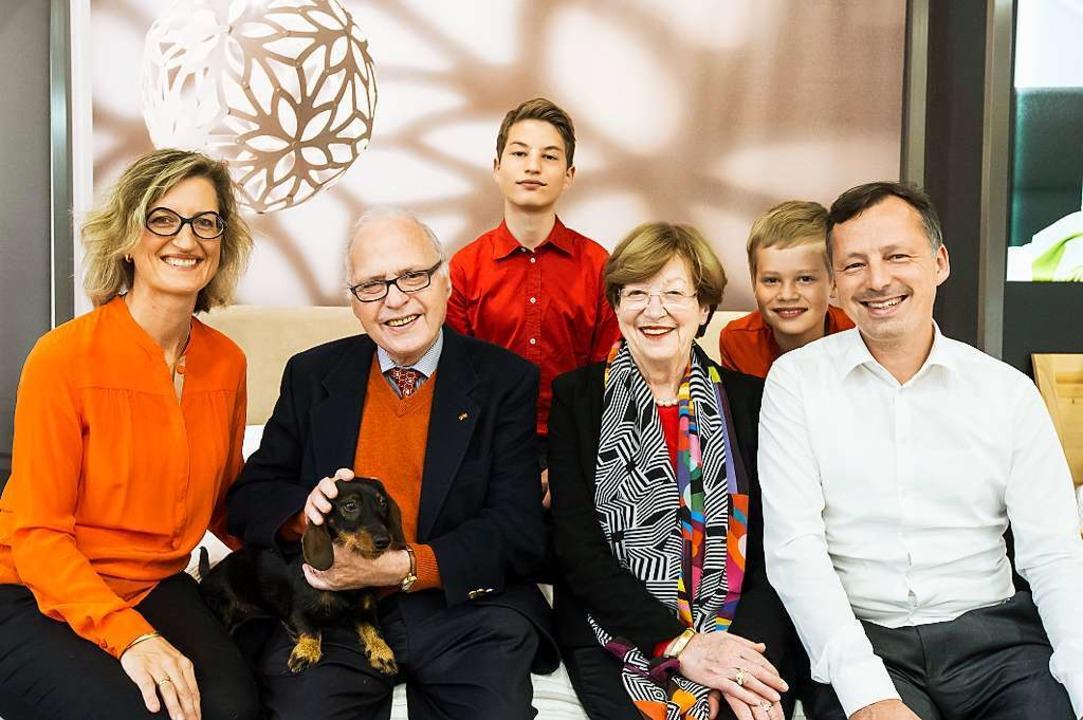 Paradebeispiel einer Unternehmerfamili...Elias, Maria-Charlotte, Felix, Philipp  | Foto: Schoenen