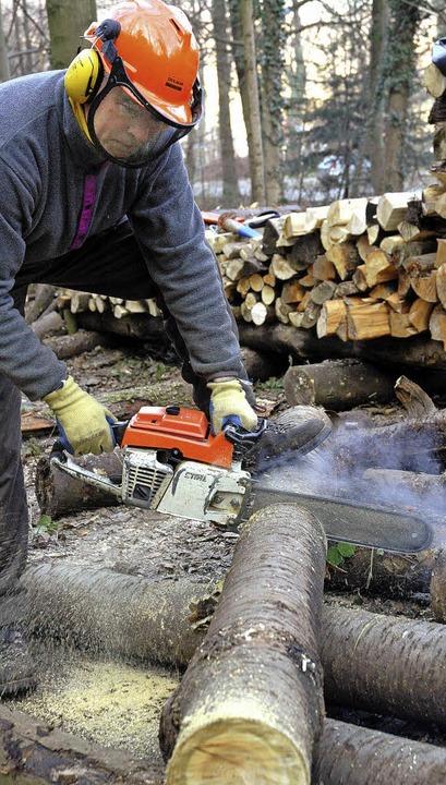 Wer Holz machen will, muss künftig den Schlagraum ersteigern.     Foto: Sasse
