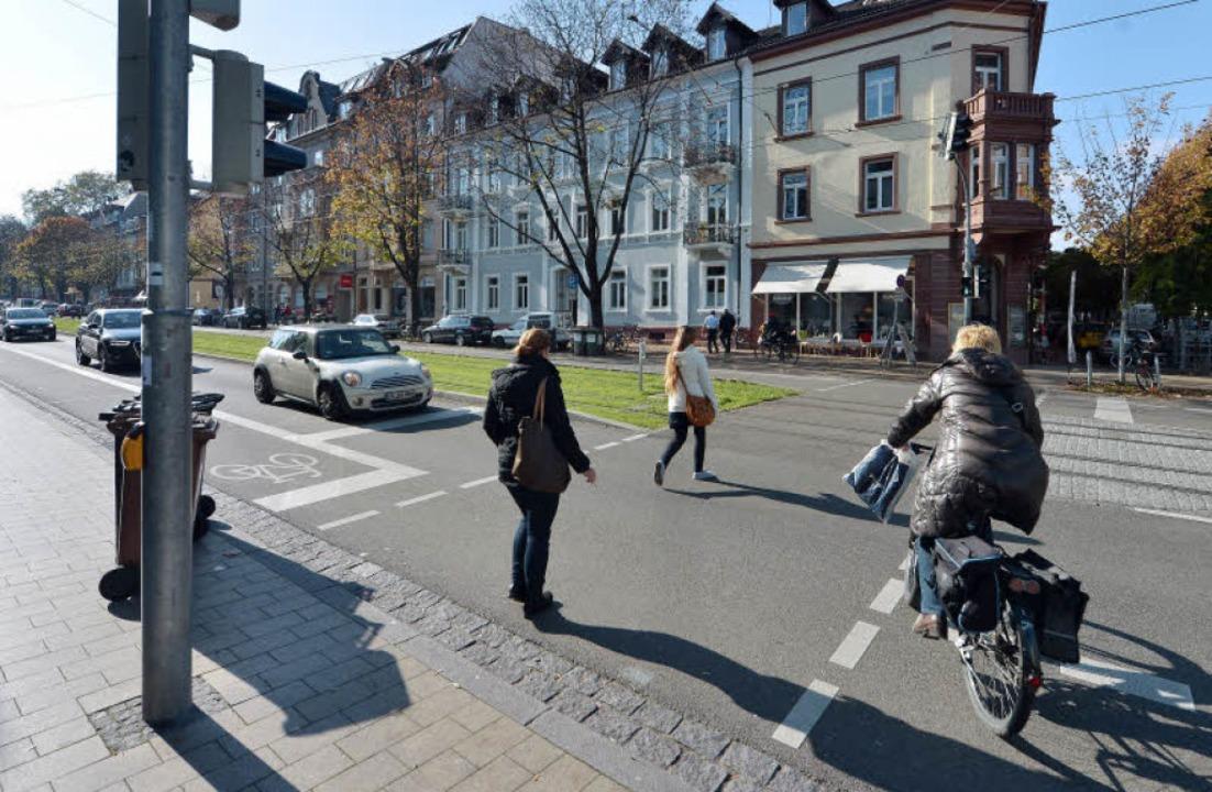 An der Kreuzung von Habsburger-, Jacob...t halten – der Fußgänger wegen.   | Foto: Michael Bamberger