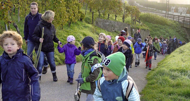 Schüler wanderten von Istein nach Huttingen.   | Foto: textdirekt