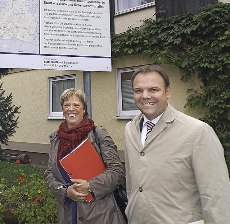 Staatssekretär Ingo Rust bei Sabine Wölfle  in Waldkirch  | Foto: ZVG