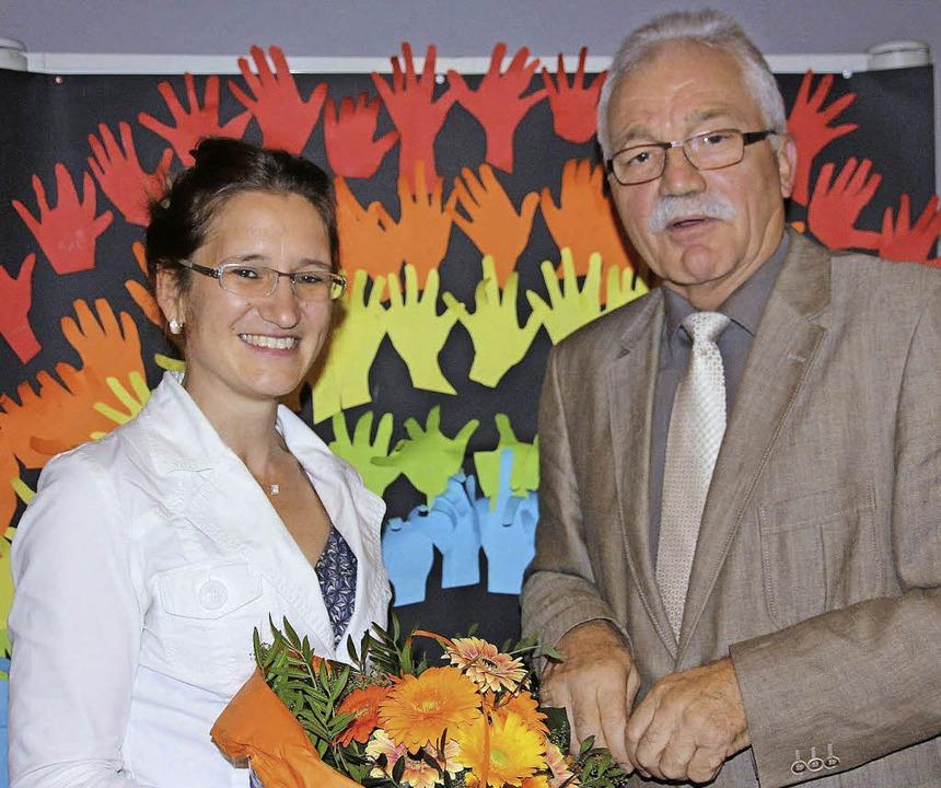 Karin Brogt mit Manfred Vossler     Foto: Janzer