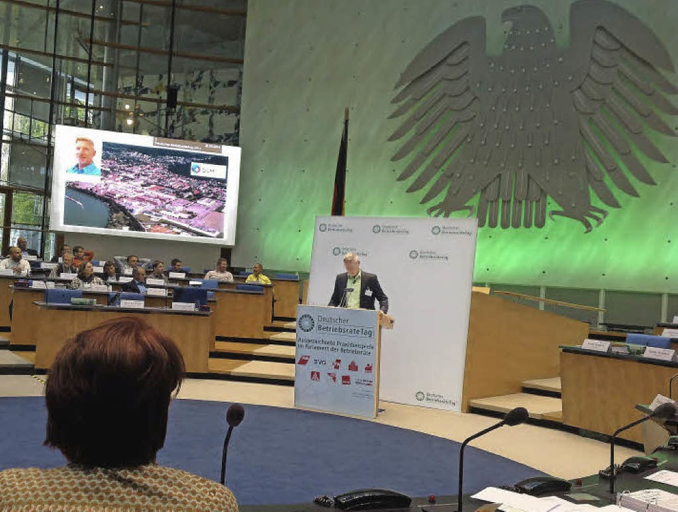 Michael Mattes, stellvertretender Betr...ag vor dem Deutschen Betriebsrätetag.   | Foto: ZVG