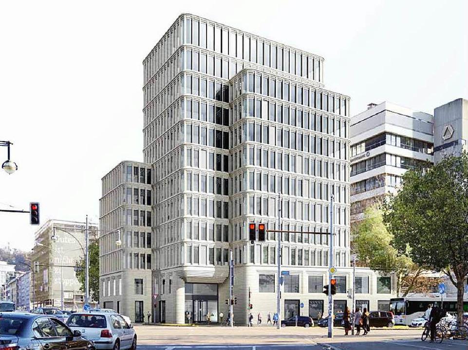 <ppp> </ppp>und das von Unmüßig geplan... Friedrichstraße im neuesten Entwurf.     Foto:  Ingo Schneider/Visualisierung: Unmüssig