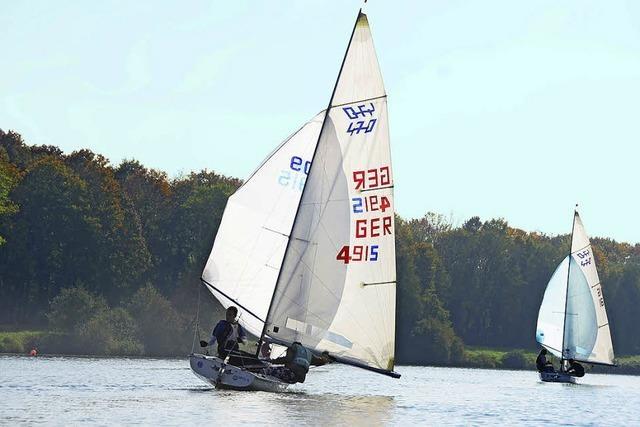 Segler beenden auf dem Rhein die Saison