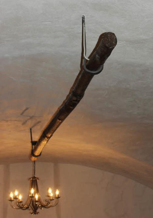 Die hölzerne Brothänge hängt noch imme...Adler von Max und Marlise Grafmüller.   | Foto: Mario Schöneberg